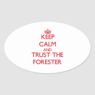 Keep Calm and Trust the Forester Stickers
