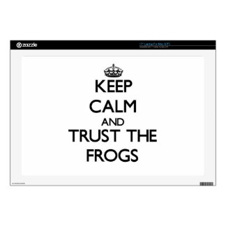 Keep calm and Trust the Frogs Laptop Decal