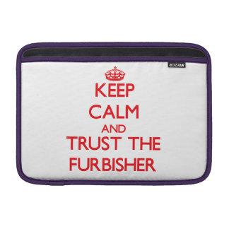 Keep Calm and Trust the Furbisher MacBook Sleeve