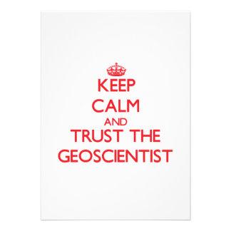 Keep Calm and Trust the Geoscientist Custom Invites