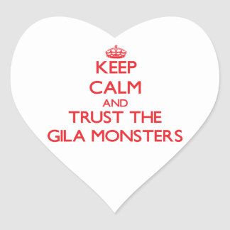 Keep calm and Trust the Gila Monsters Heart Stickers