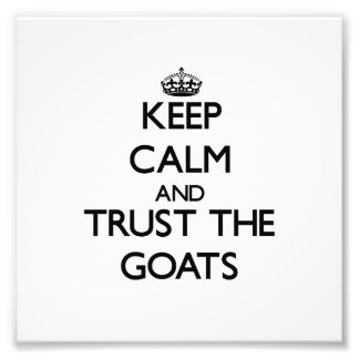 Keep calm and Trust the Goats Photograph