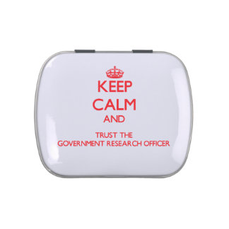Keep Calm and Trust the Government Research Office Jelly Belly Candy Tin