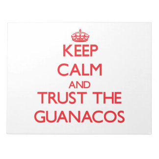 Keep calm and Trust the Guanacos Scratch Pad