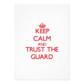 Keep Calm and Trust the Guard Custom Invitation