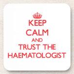 Keep Calm and Trust the Haematologist Coasters