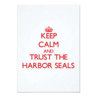 Keep calm and Trust the Harbor Seals Card