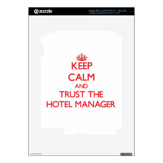 Keep Calm and Trust the Hotel Manager iPad 3 Decals