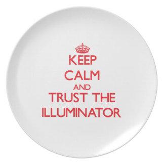 Keep Calm and Trust the Illuminator Dinner Plate