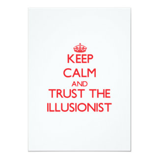 Keep Calm and Trust the Illusionist Personalized Invite