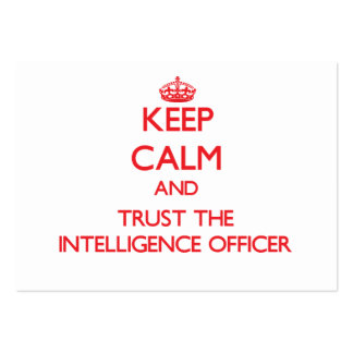 Keep Calm and Trust the Intelligence Officer Large Business Cards (Pack Of 100)