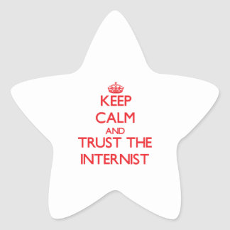 Keep Calm and Trust the Internist Star Sticker