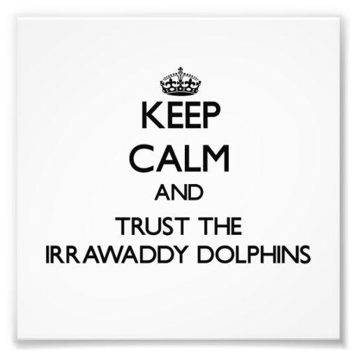 Keep calm and Trust the Irrawaddy Dolphins Photo Print
