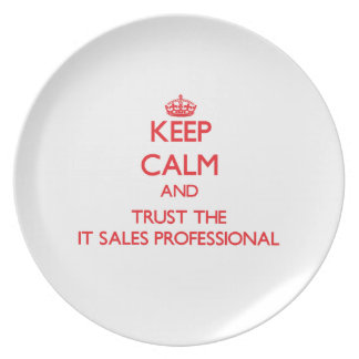 Keep Calm and Trust the It Sales Professional Plate