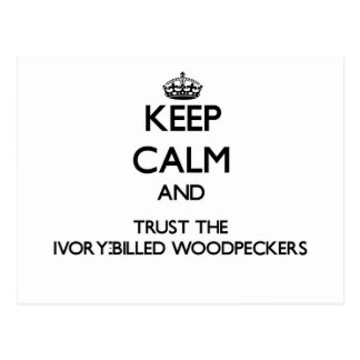 Keep calm and Trust the Ivory-Billed Woodpeckers Postcard