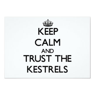Keep calm and Trust the Kestrels Personalized Invites