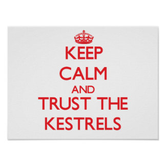 Keep calm and Trust the Kestrels Posters