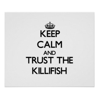 Keep calm and Trust the Killifish Posters