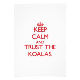 Keep calm and Trust the Koalas Custom Invite