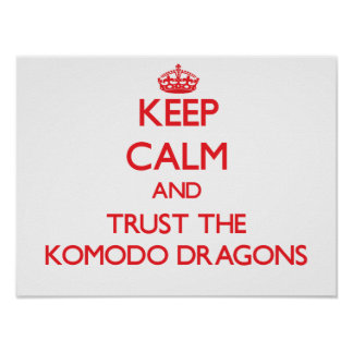 Keep calm and Trust the Komodo Dragons Poster