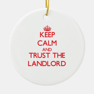 Keep Calm and Trust the Landlord Double-Sided Ceramic Round Christmas Ornament