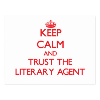 Keep Calm and Trust the Literary Agent Postcard