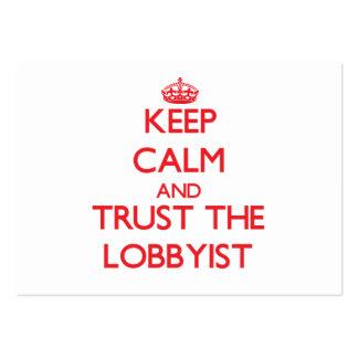 Keep Calm and Trust the Lobbyist Business Card Templates