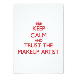 "Keep Calm and Trust the Makeup Artist 5"" X 7"" Invitation Card"