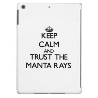 Keep calm and Trust the Manta Rays iPad Air Covers