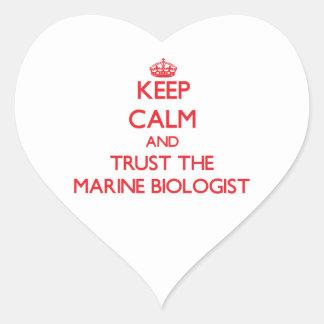 Keep Calm and Trust the Marine Biologist Heart Sticker