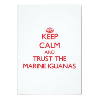Keep calm and Trust the Marine Iguanas 5x7 Paper Invitation Card