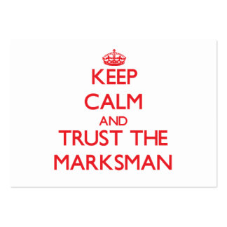 Keep Calm and Trust the Marksman Business Card