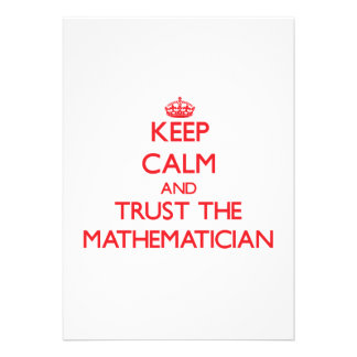 Keep Calm and Trust the Mathematician Personalized Invitation