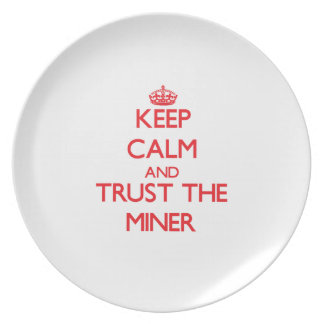 Keep Calm and Trust the Miner Party Plates