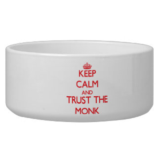 Keep Calm and Trust the Monk Dog Food Bowl