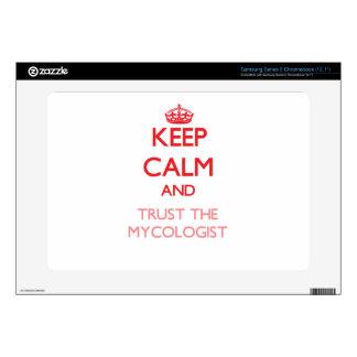 Keep Calm and Trust the Mycologist Samsung Chromebook Skin