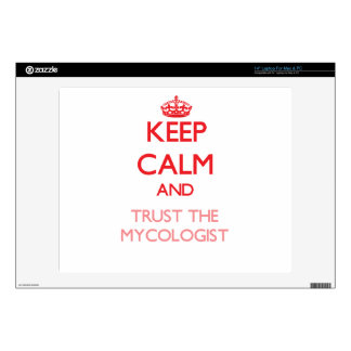 """Keep Calm and Trust the Mycologist 14"""" Laptop Decal"""