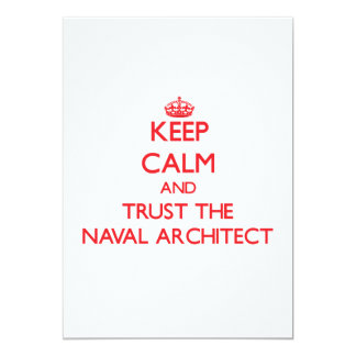 Keep Calm and Trust the Naval Architect Custom Invites
