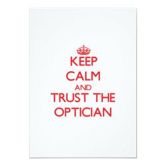 Keep Calm and Trust the Optician Invitations