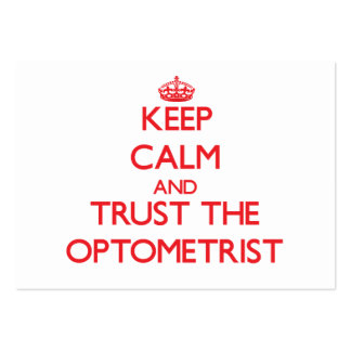 Keep Calm and Trust the Optometrist Large Business Cards (Pack Of 100)