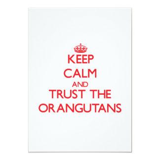 "Keep calm and Trust the Orangutans 5"" X 7"" Invitation Card"