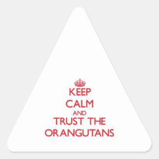 Keep calm and Trust the Orangutans Sticker