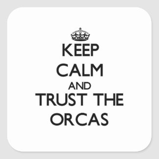Keep calm and Trust the Orcas Square Sticker