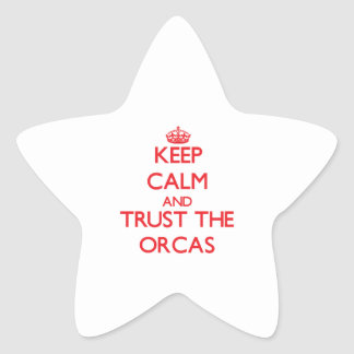 Keep calm and Trust the Orcas Sticker