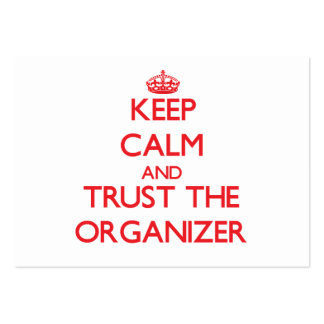 Keep Calm and Trust the Organizer Large Business Cards (Pack Of 100)