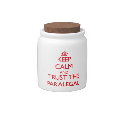 Keep Calm and Trust the Paralegal Candy Jar