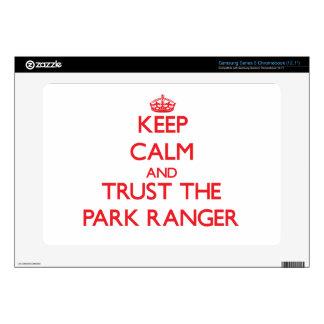 Keep Calm and Trust the Park Ranger Samsung Chromebook Skin