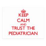 Keep Calm and Trust the Pediatrician Postcard