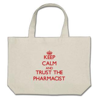 Keep Calm and Trust the Pharmacist Canvas Bags