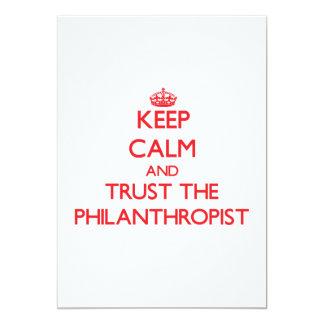"Keep Calm and Trust the Philanthropist 5"" X 7"" Invitation Card"
